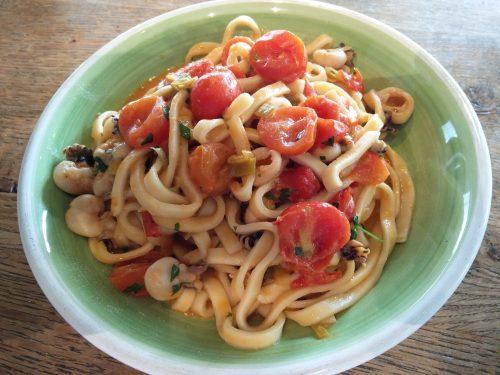 Scialatielli aux sèches et tomates cerises